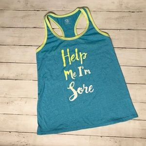 Athletic Works racer back graphic tank women sz s